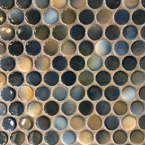 Large Penny Round Mosaics tile collection