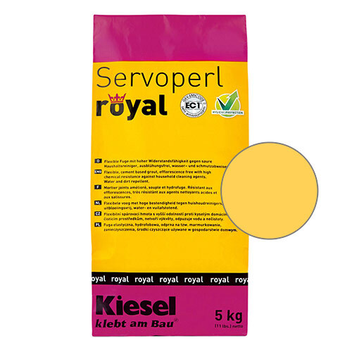Servoperl royal grout - yellow cream 5kg