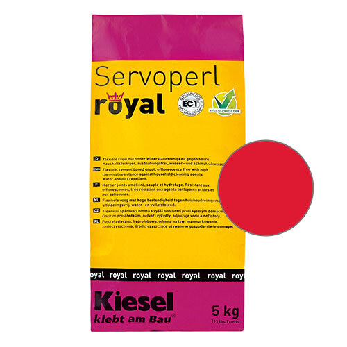 Servoperl royal grout - rot (red) 5kg