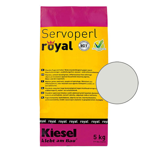 Servoperl royal grout - silver grey 5kg
