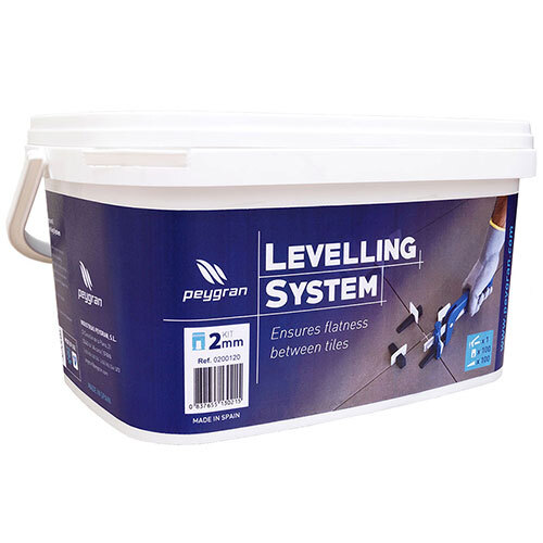 Peygran Tile Levelling System Kit<br>100 2mm Clips, Wedges, Pliers