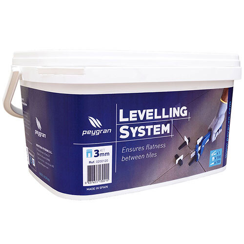 Peygran Tile Levelling System Kit<br>100 3mm Clips, Wedges, Pliers