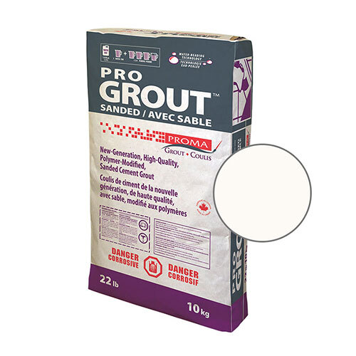 PRO GROUT SANDED ARCTIC WHITE 10kg