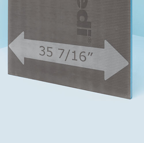 "wedi XL Building Panel  3' x 8' x 1/2""(900 x 2500 x 12.5 mm)"
