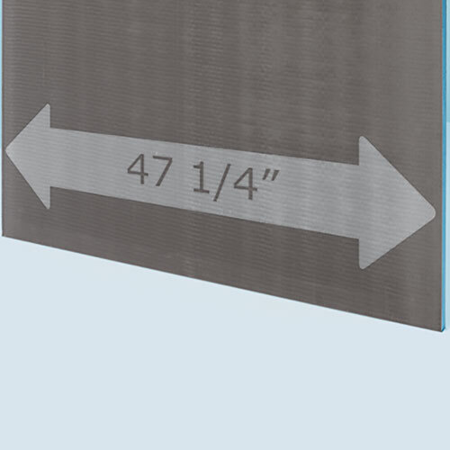 "wedi XXL Building Panel 4' x 8' x 1/2"" (1200 x 2500 x 10.5 mm)"