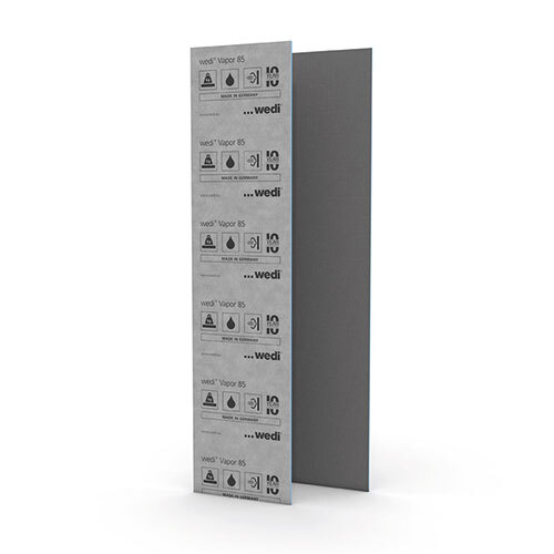 Wedi vapor 85 building panel 3'x8'x1/2