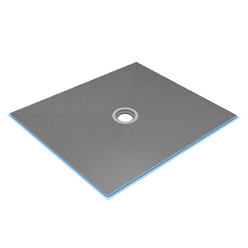 wedi Fundo Ligno Curbless Shower Base 3' x 3' with Centre Drain