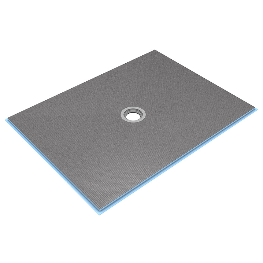 wedi Fundo Ligno Curbless Shower Base 3' x 5' with Centre Drain