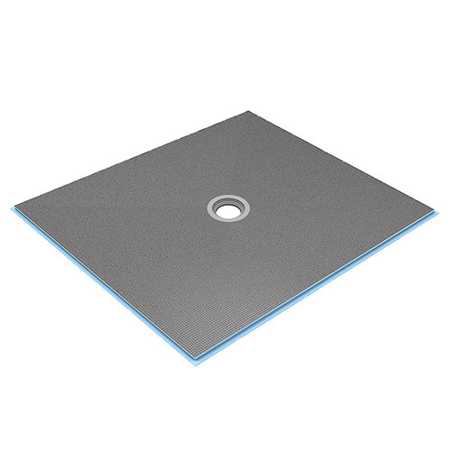 wedi Fundo Ligno Curbless Shower Base 4' x 4' with Centre Drain