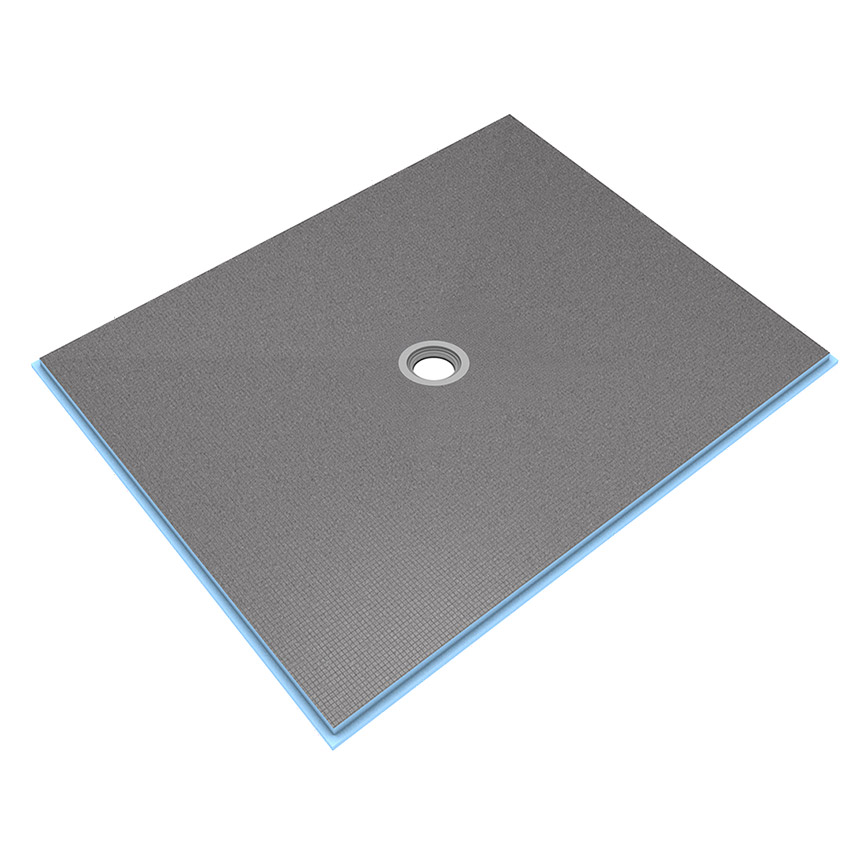 wedi Fundo Ligno Curbless Shower Base 4' x 5' with Centre Drain