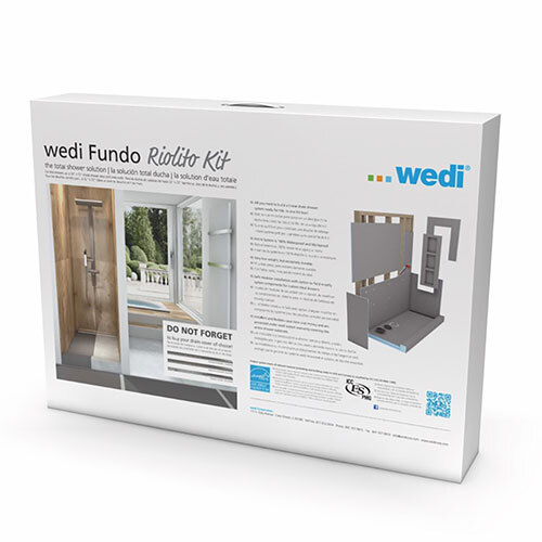 "Wedi fundo riolito neo kit one-way slope 32"" x 72"""