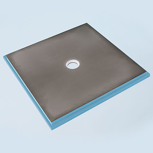 Wedi fundo primo shower base 3' x 3' with centre drain