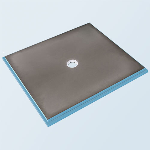 Wedi fundo primo shower base 3' x 4' with centre drain