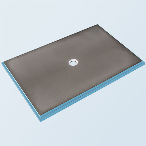 Wedi fundo primo shower base 3' x 6' with centre drain