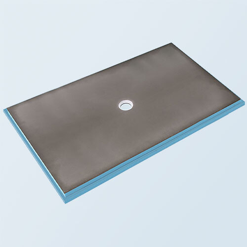 Wedi fundo primo shower base 4' x 7' with centre drain
