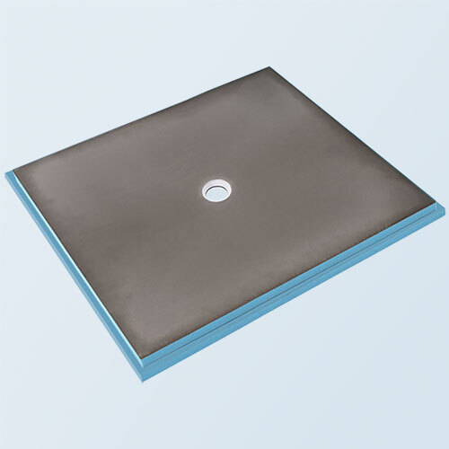wedi Fundo Primo Shower Base 5' x 6' with Centre Drain
