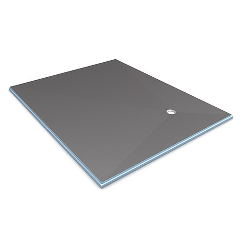 wedi Fundo Primo Shower Base 5' x 6' with Offset Drain