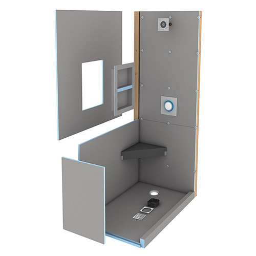 Wedi fundo primo shower kit 3' x 6' with offset drain