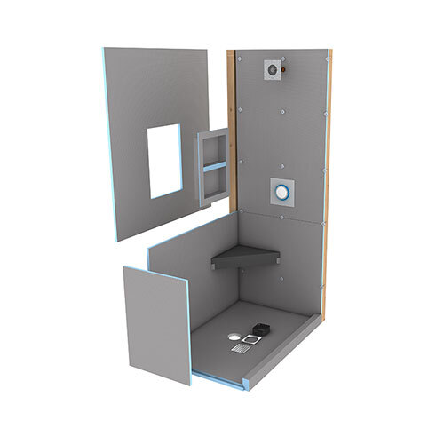 wedi Fundo Primo Shower Kit 4' x 6' with Centre Drain