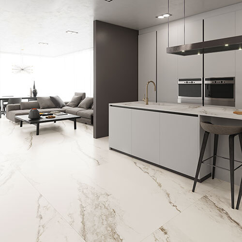 "Kitchen - 59""x118"" Larsen Super Blanco"