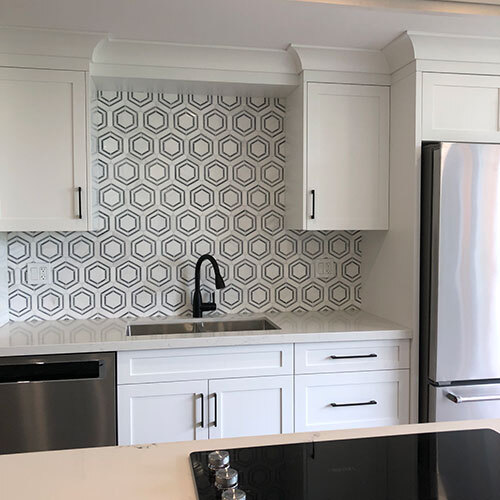 Dolomite Bardiglio Backsplash