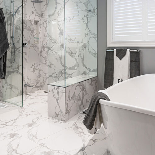 Bathroom - Marble Look Statuario White