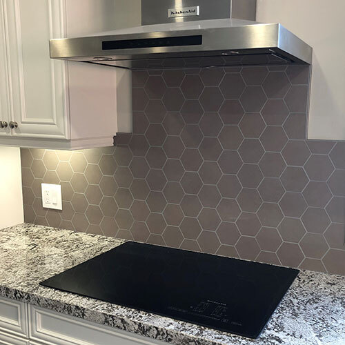 Backsplash - Seamless hexagon 3x3