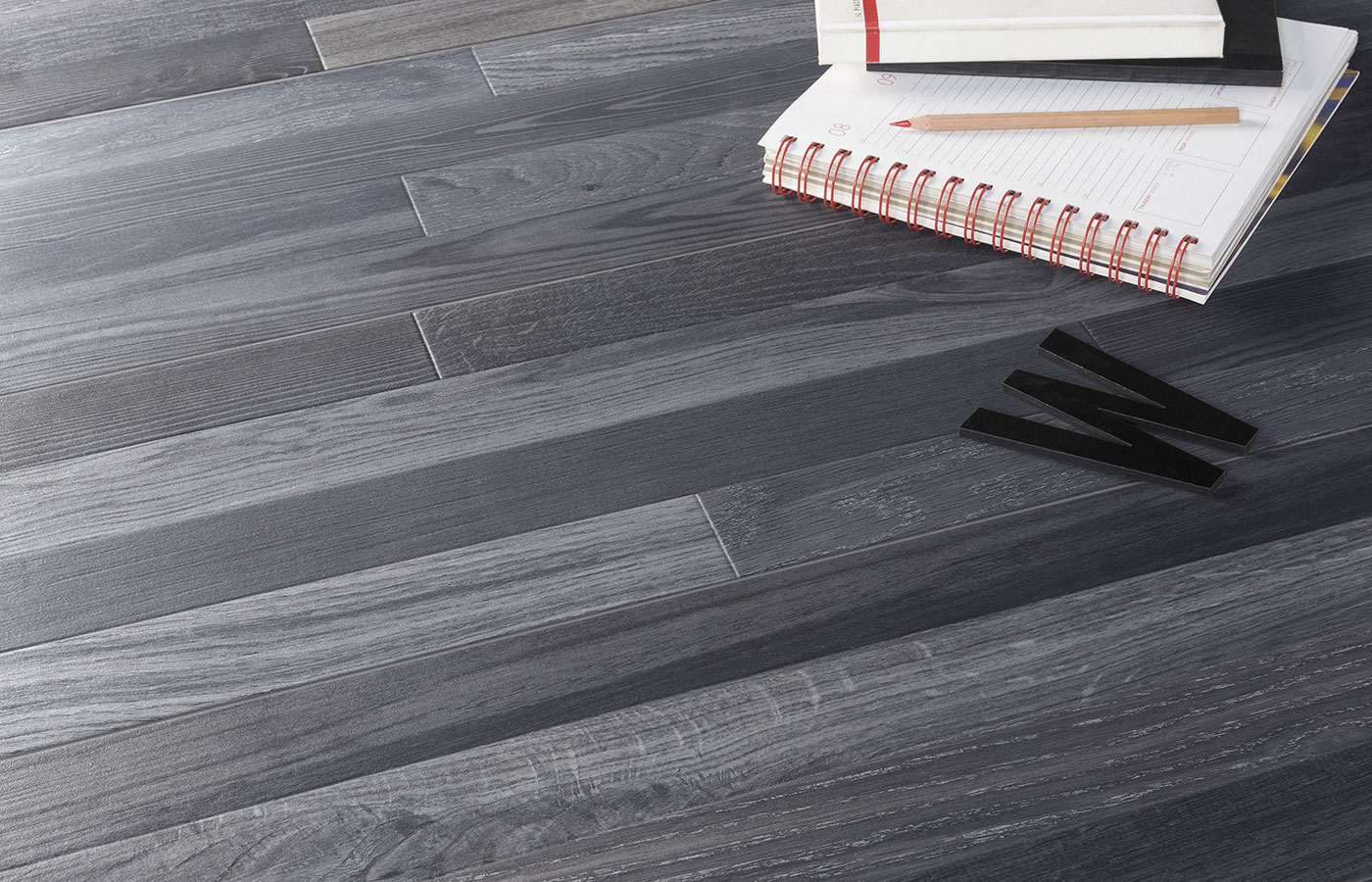 Patchwood Charcoal Matte Rectified Porcelain Floor