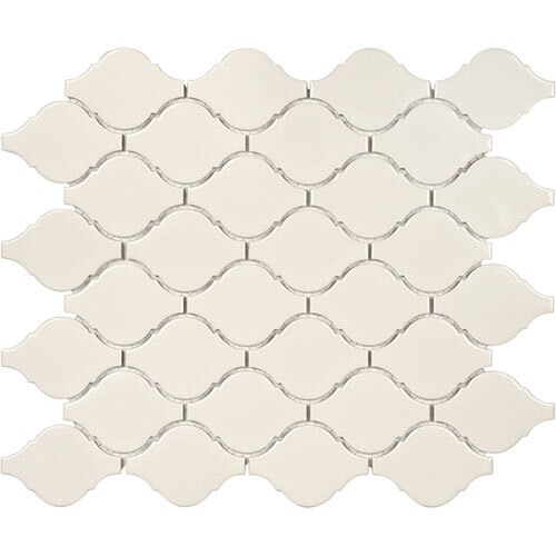Small Tile Series - Soho Arabesque Biscuit Gloss Mosaic