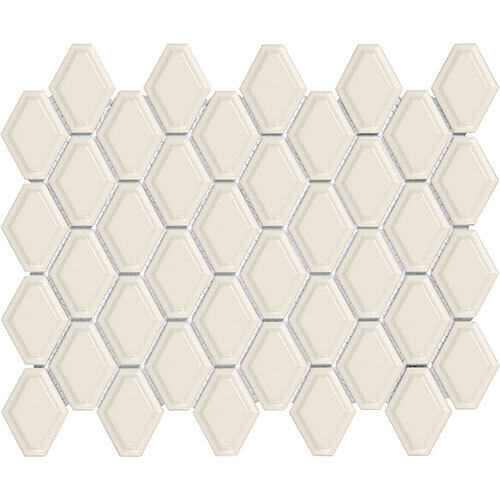 Small Tile Series - Soho Convex Biscuit Gloss Mosaic