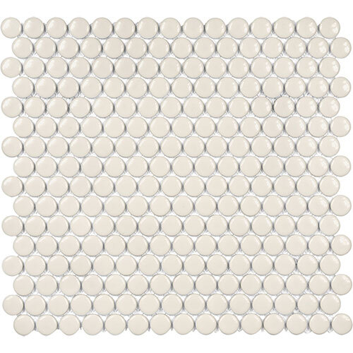 Small Tile Series - Soho Penny Round Biscuit Gloss Mosaic
