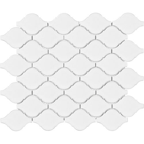 Small Tile Series - Soho Arabesque White Gloss Mosaic