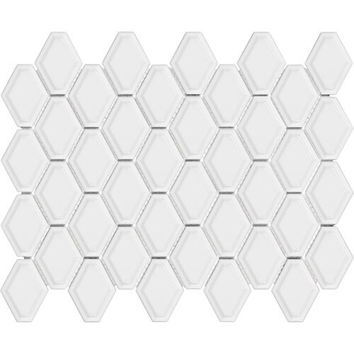 Small Tile Series - Soho Convex White Gloss Mosaic
