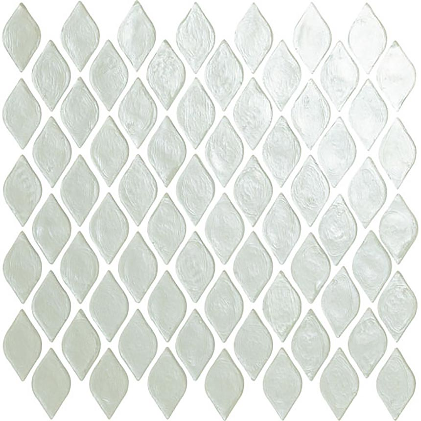 "12""x12"" Teardrop Ice Glass Mosaic Porceain Tile"