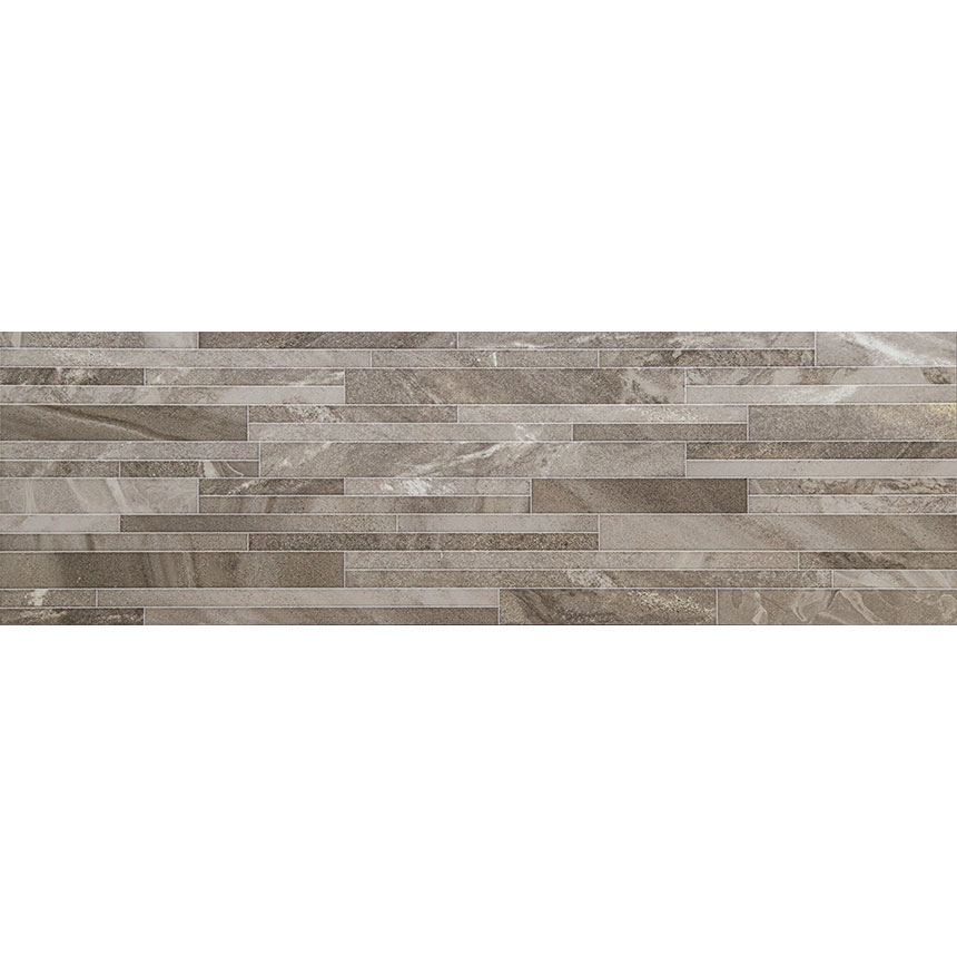 "12""x40"" New Age Fields Decor Tile in Noce Gloss Porceain Tile"