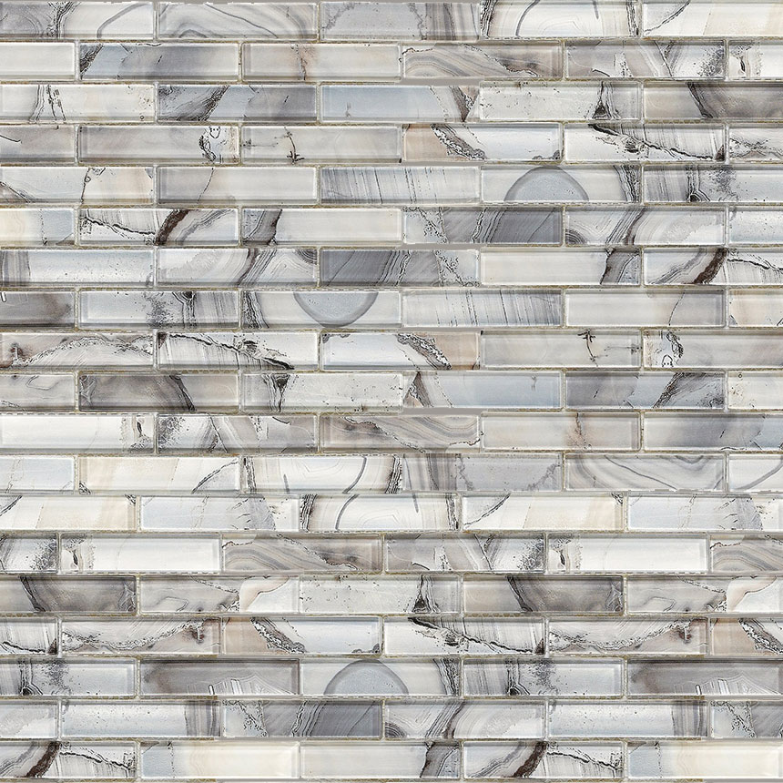 Tile Master Barrie >> Gypsea Glass Mosaic Offset 114 Gloss - Glass Mosaic Wall Tile