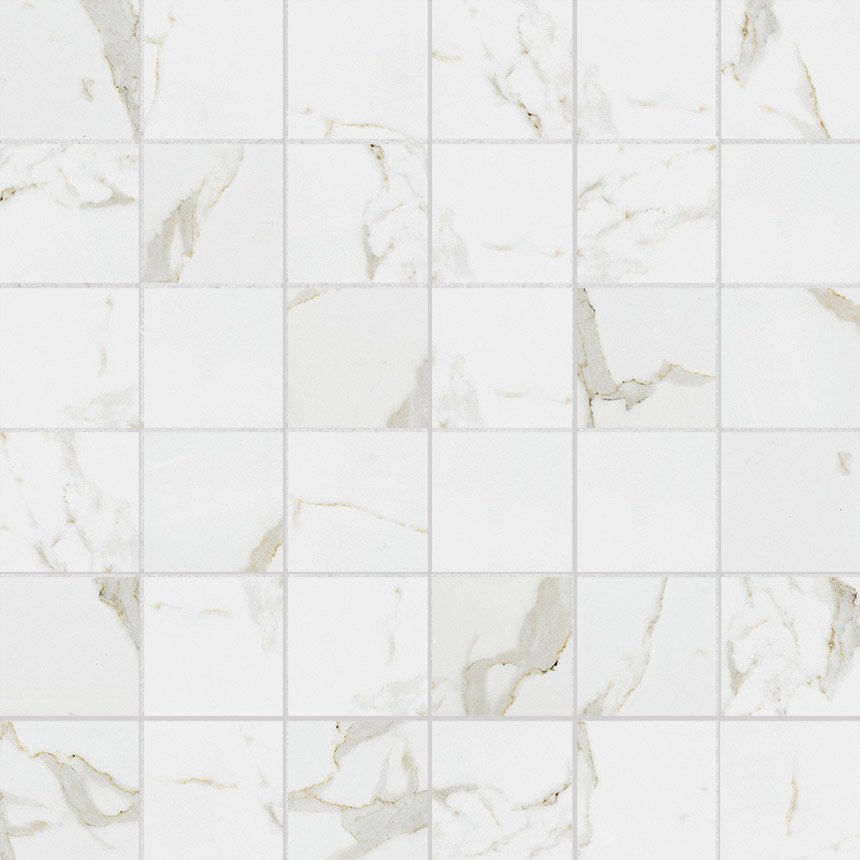 "Marble Look Calacatta Gold Polished 2""x2"" Mosaic Tile Porceain Tile"