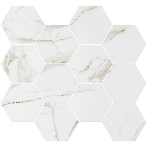 Small Tile Series - Marble Look Calacatta Gold Polished 3