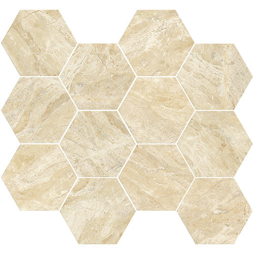 Small Tile Series - Marble Look Roman Cappuccino Polished 3
