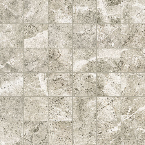 Small Tile Series - Marble Look Cloud Grey Polished 2