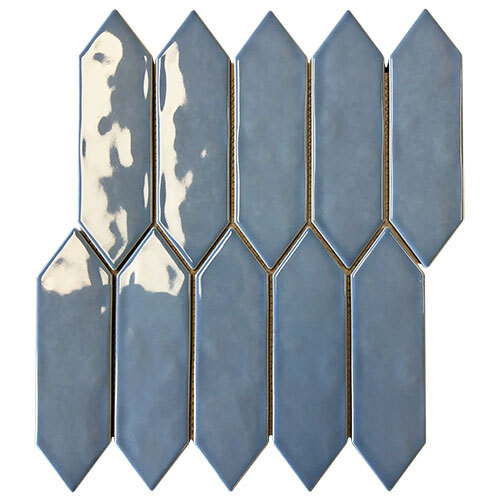 Encaustic & Decor Tile Series - Picket Fence Light Blue