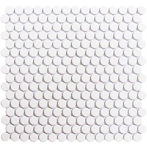 Roca mosaics Tile Series - Roca Penny Round White Mosaic
