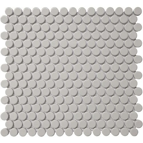 Small Tile Series - Roca Penny Round Grey Mosaic