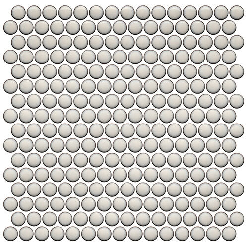 White Tile Series - Roca Penny Round Pearl Mosaic