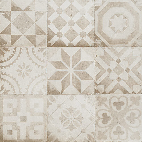 Beige & cream tile Look