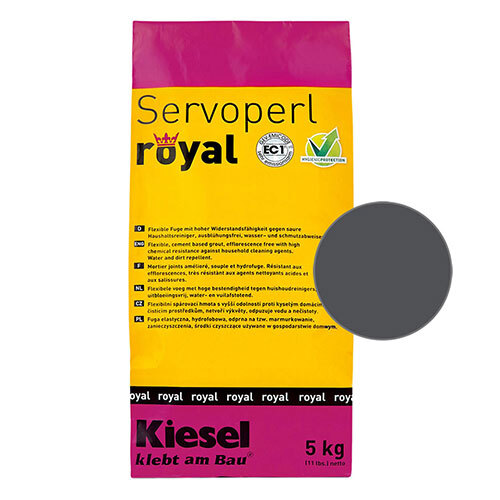 Servoperl royal grout - black 5kg